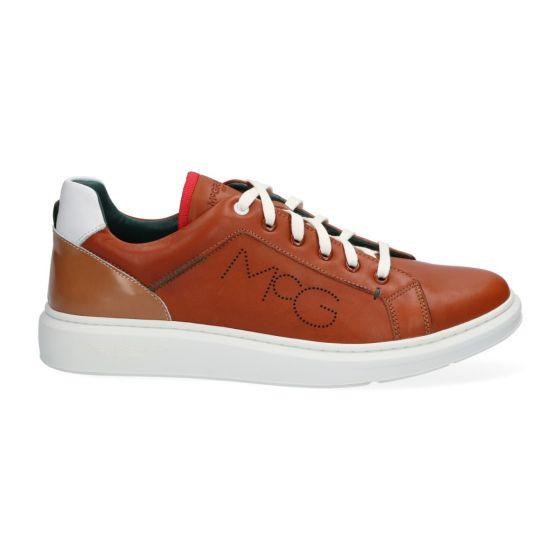 Sneakers MCG - Cognac - Leer - Lage sneakers voor heren