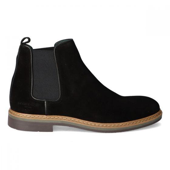 Zwarte Chelsea boots van suède voor heren