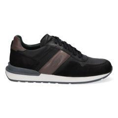 Zwarte herensneakers met grijze accenten