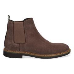 Taupe Chelsea boots van suède voor heren