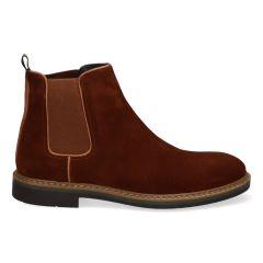 Bruine Chelsea boots van suède voor heren