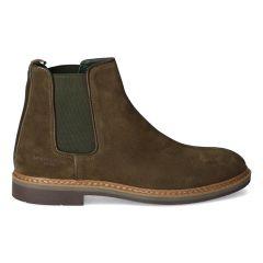 Groene Chelsea boots van suède voor heren
