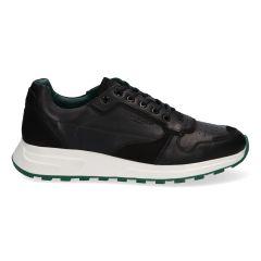 Leren herensneakers in de kleur zwart